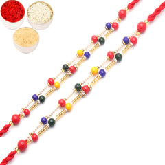 Rakhi for Brother Rakhis Online - Set of 2 - 6942C Pearl rakhi for my Brother