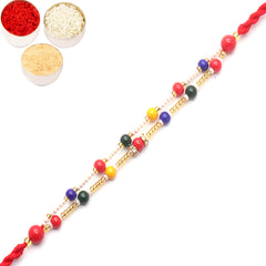 Rakhi for Brother Rakhis Online - 6942C Pearl rakhi for my Brother