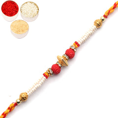 Rakhi for Brother Rakhis Online - 6952 Pearl rakhi for my Brother