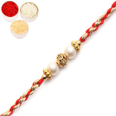 Rakhi for Brother Rakhis Online - 7085 Pearl rakhi for my Brother