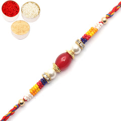 Rakhi for Brother Rakhis Online - 8724 pearl Rakhi for my brother