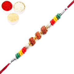 Rakhi for Brother Rakhis Online -1232 Rudraksh Rakhi