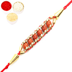 Rakhi for Brother Rakhis Online - 3813 Rudraksh rakhi
