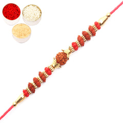 Rakhi for Brother Rakhis Online - 6118 Rudraksh Rakhi