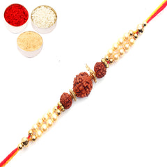 Rakhi for Brother Rakhis Online - 6140 Rudraksh Rakhi