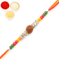 Rakhi for Brother Rakhis Online - ARO37 Rudraksh Rakhi