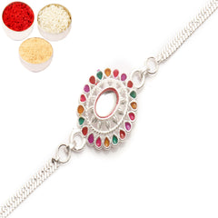 Rakhi for Brother Rakhis Online - AAK2 Silver Rakhi