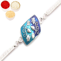 Rakhi for Brother Rakhis Online - AAMI Silver Rakhi