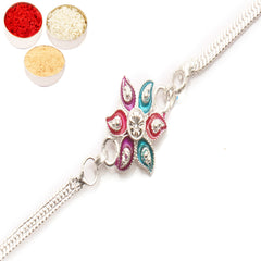 Rakhi for Brother Rakhis Online - AAMRS SILVER RAKHI