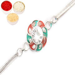 Rakhi for Brother Rakhis Online - AASRS silver Rakhi