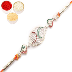 Rakhi for Brother Rakhis Online - Z2K Silver Rakhi