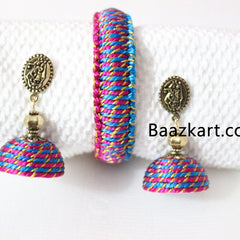 Designer Handmade Bangles With Earrings