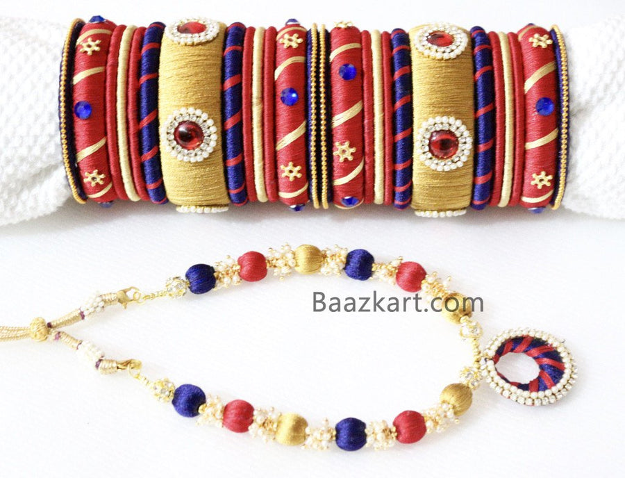 Designer Handmade Bangles With Necklace
