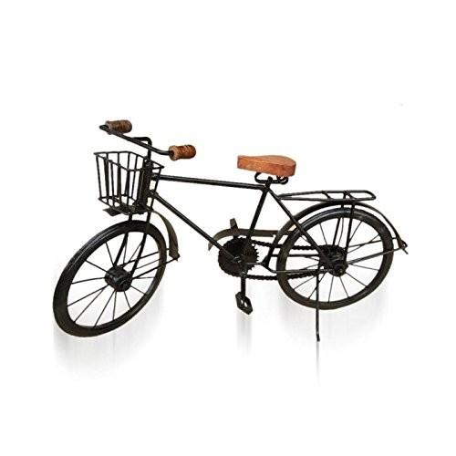 Desi Karigar Black Mango Wood And Wrought Iron Model Cycle