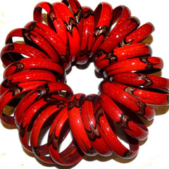 Red Glass Bangles (THICK)