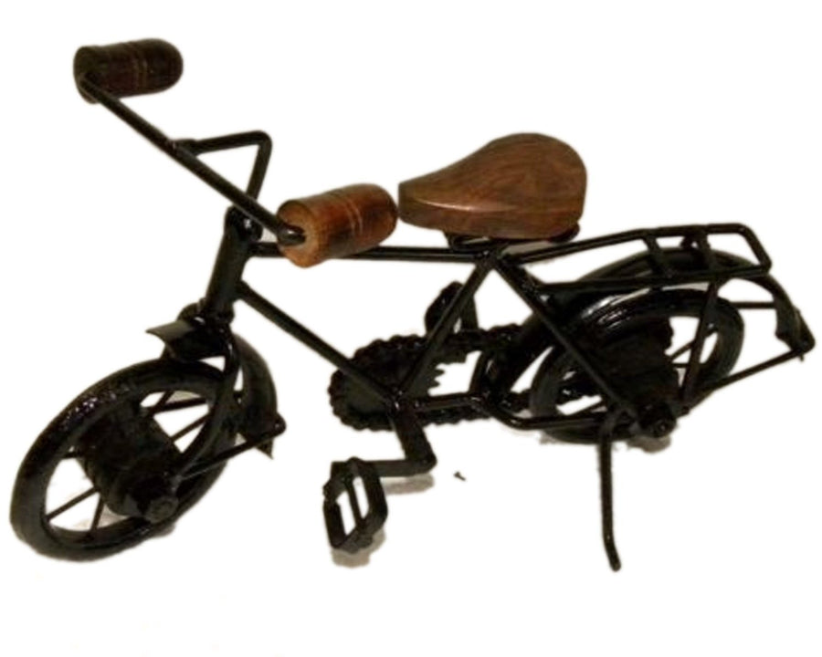 Antique Home Decor Product Desi Karigar Wooden & Iron Cycle