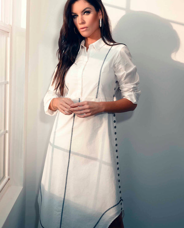 Shirtdress With Side Buttons