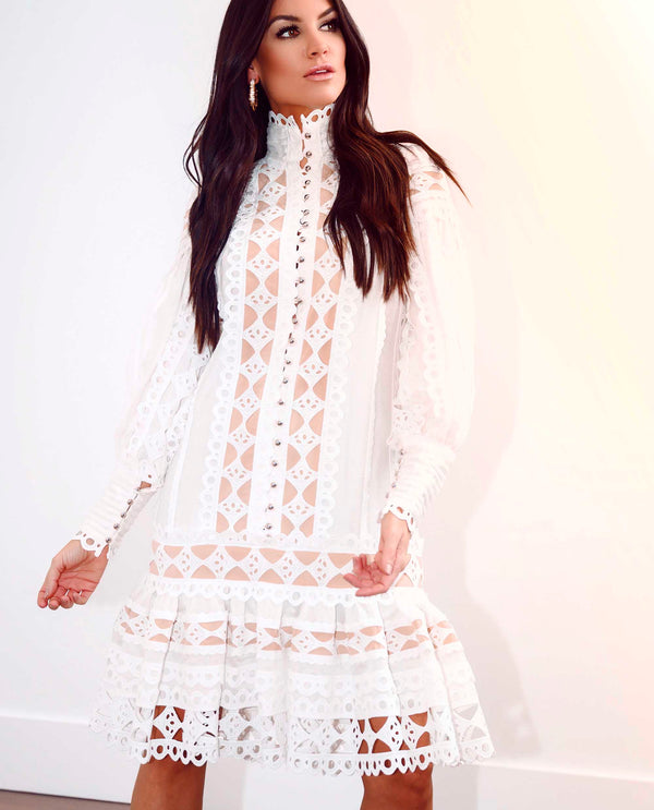 Lace Drop Waist Dress