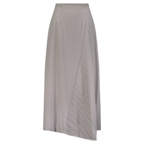 Pleated Side Maxi skirt