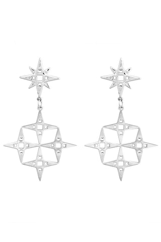 Constellation Earrings - Platinum
