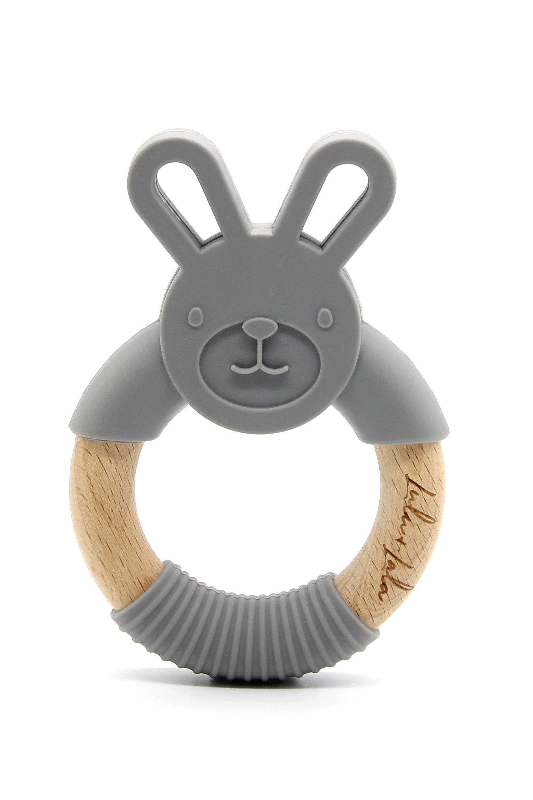 Rabbit Teether - Dark Grey