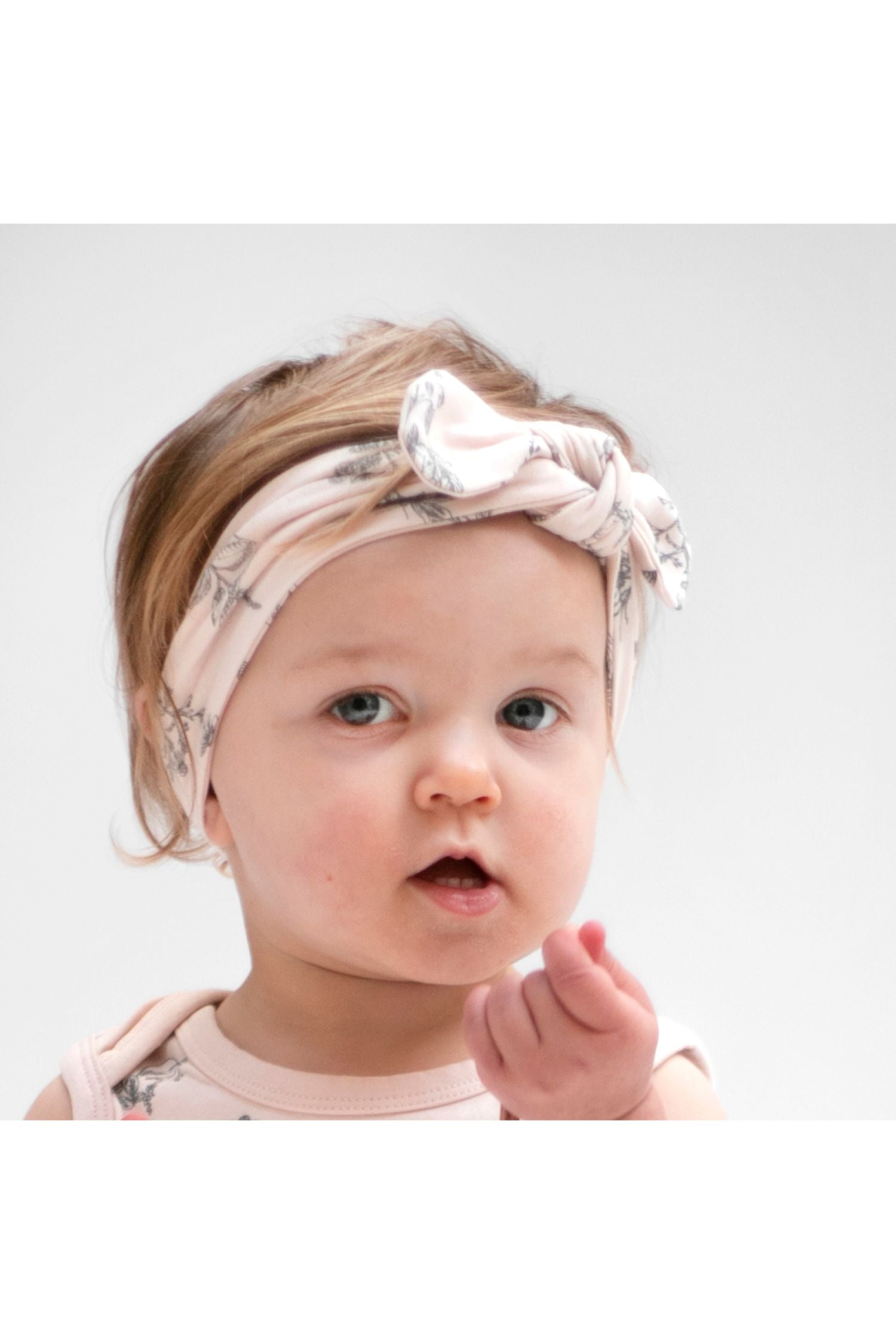 Baby head band - Blush meadow
