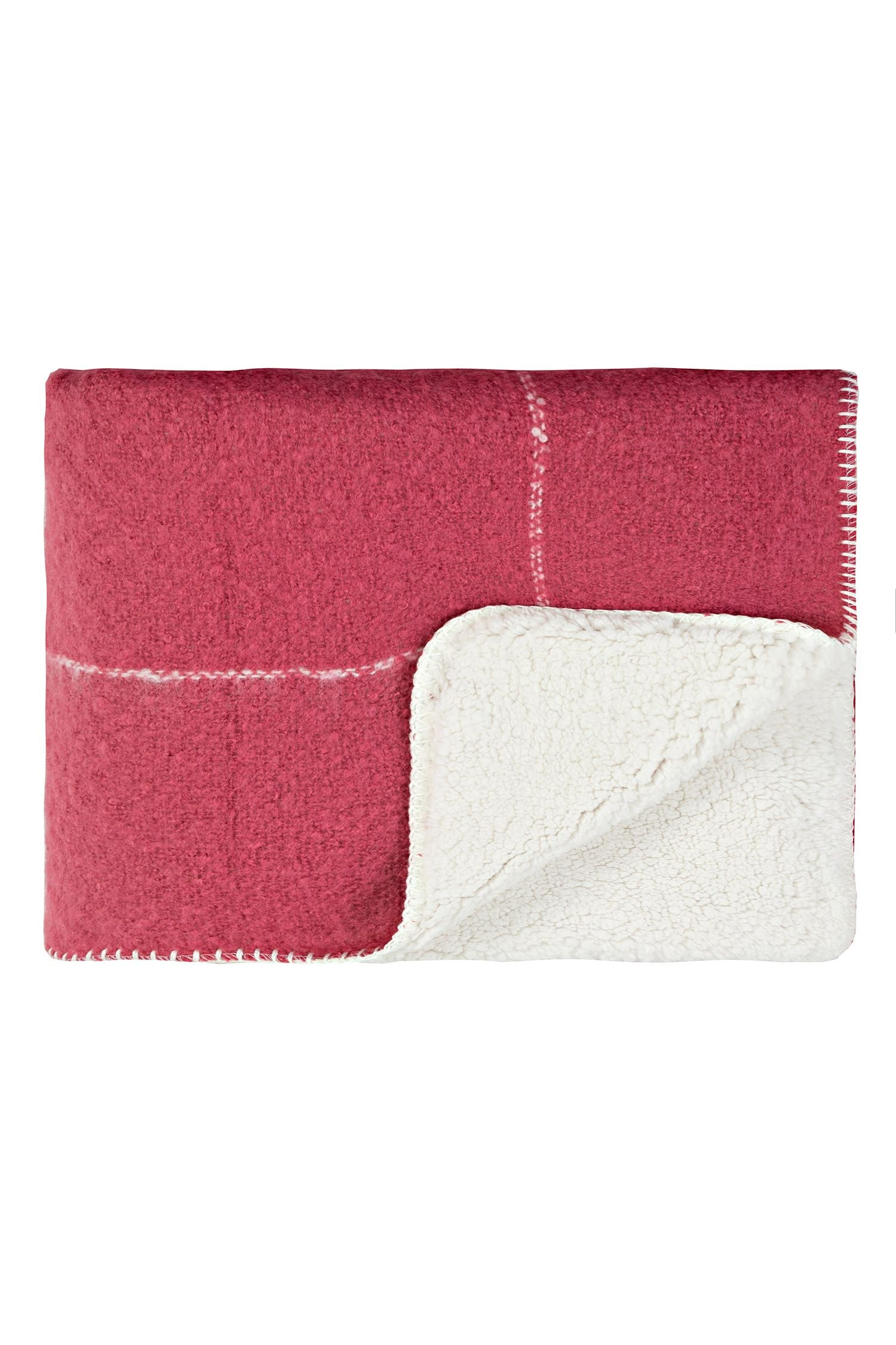 Sherpa grid blanket - Rose pink