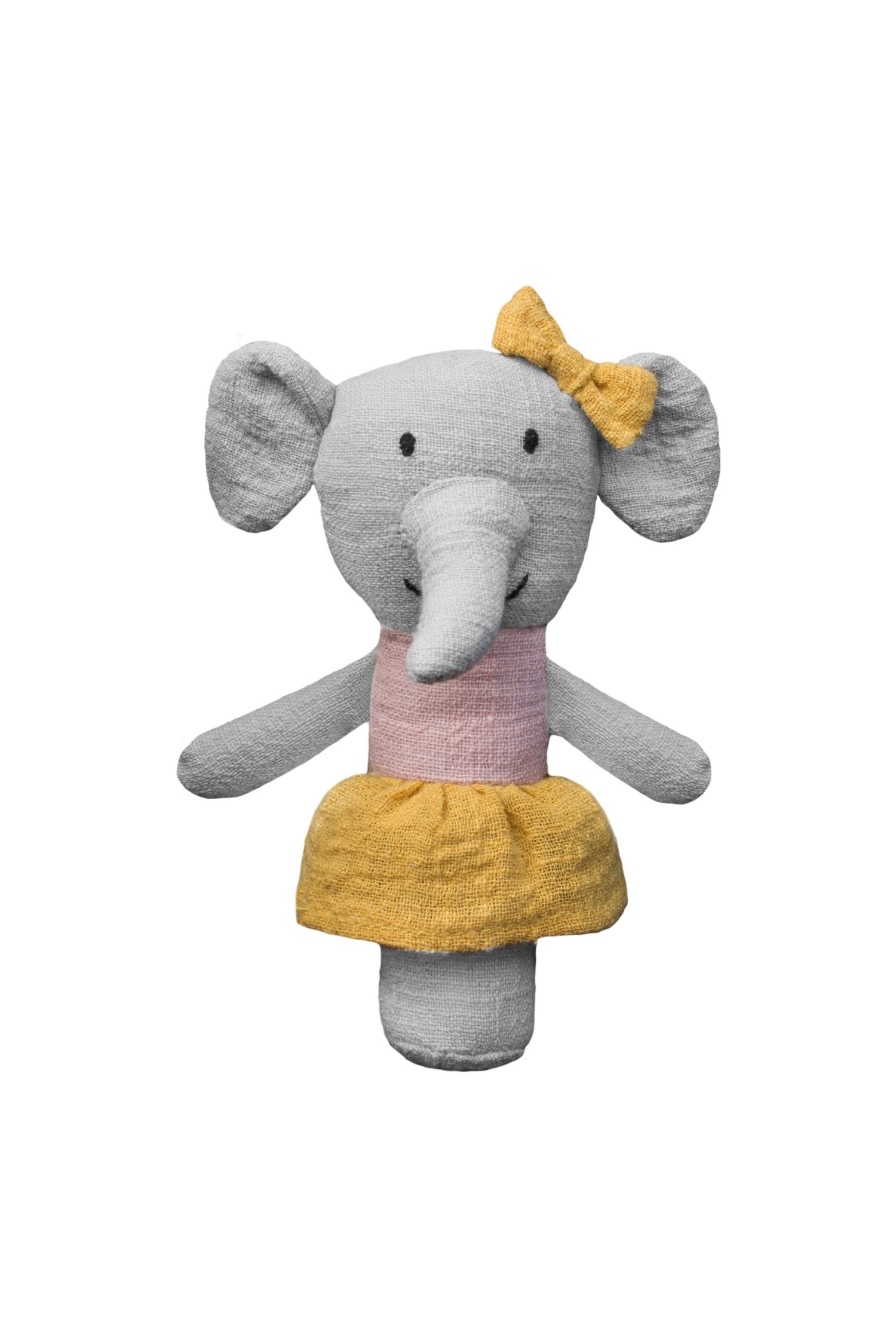 Effie the elephant stick rattle