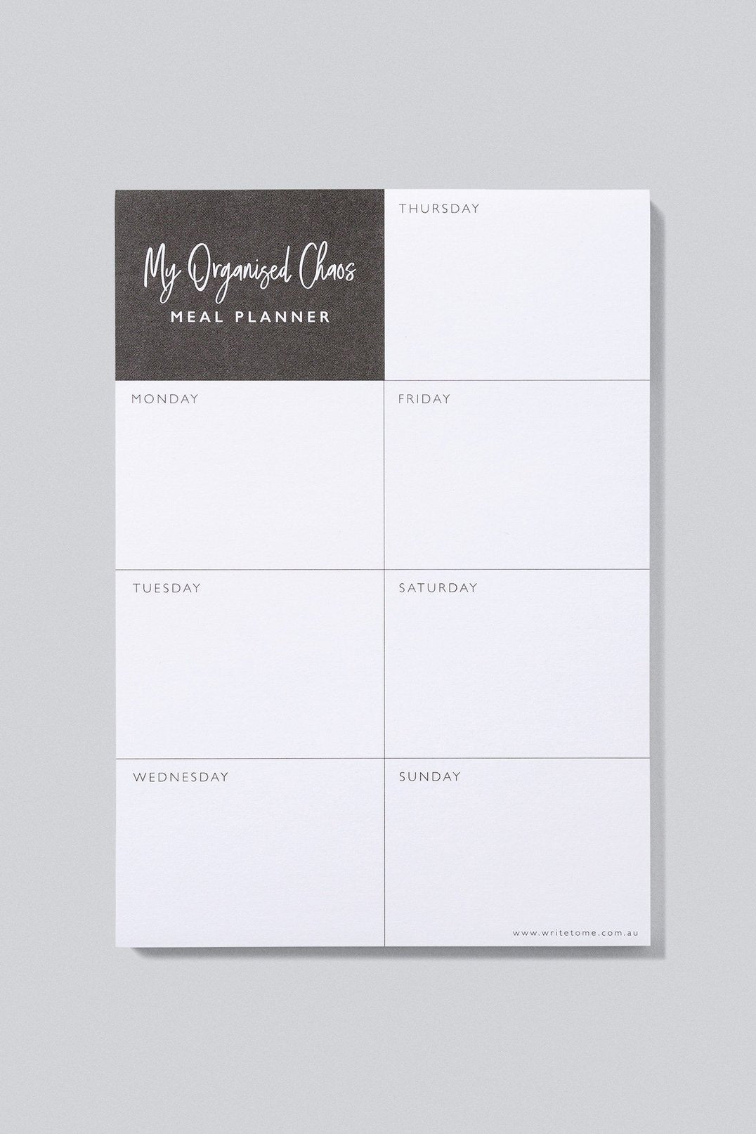 Meal Planner - My Organised Chaos