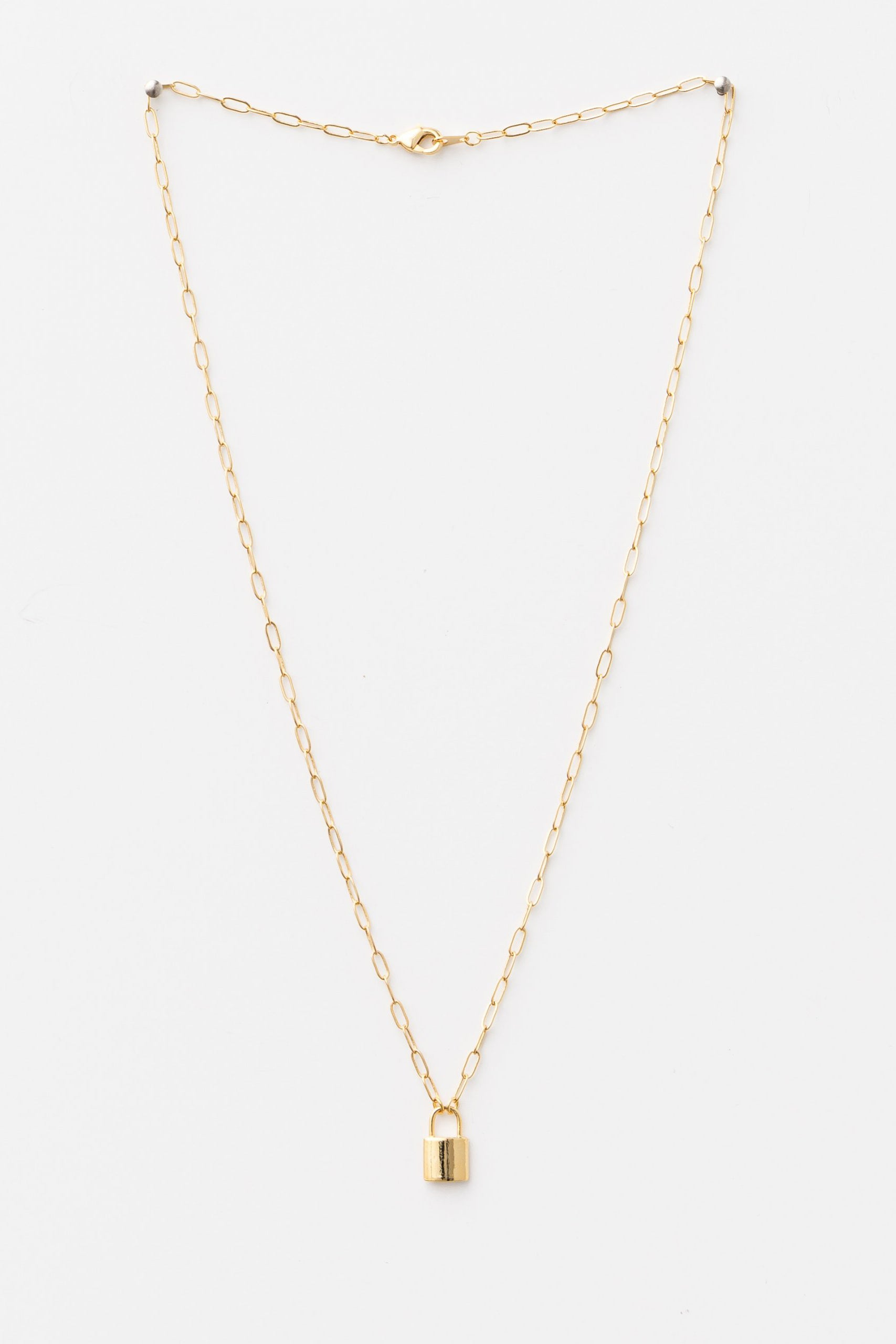 Necklace - Gold Padlock