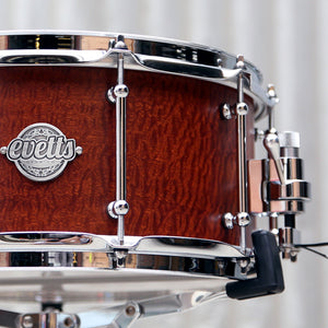 Evetts Smooth Satin finish snare drum