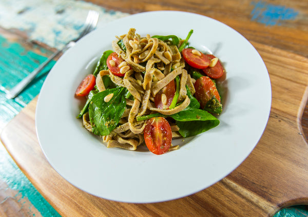 Spinach, Tomato and Pesto Pasta