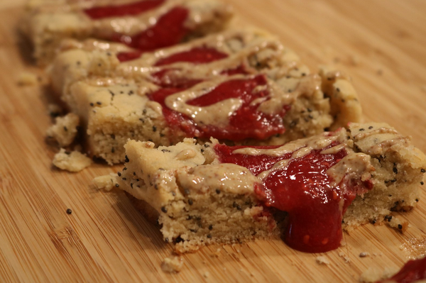Almond Butter & Jelly Stuffed Shortbread Cookies
