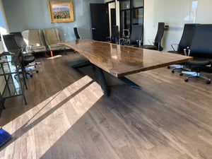 Claro Walnut Conference Table 15'x4'