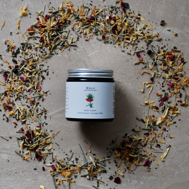 Body Cream | FRANKINCENSE + ORANGE-Herbal Skincare-Mäesi Apothecary