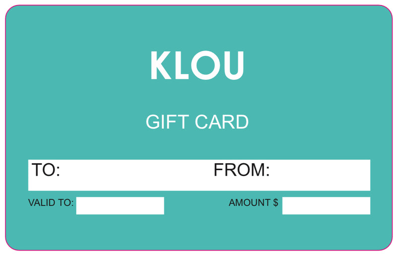 Klou Boutique Gift Card  Klou Boutique GIFT CARD Klou Boutique