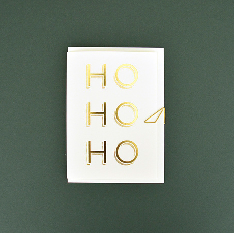 HO HO HO - Christmas card  Klou Boutique  Klou Boutique