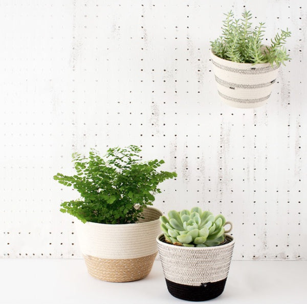 MIA MŽLANGE - JUTE PLANTER SMALL -NATURAL  MIA MELANGE GIFTWARE Klou Boutique