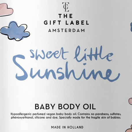 Sweet Little Sunshine Baby Body Oil  THE GIFT LABEL GIFTWARE Klou Boutique