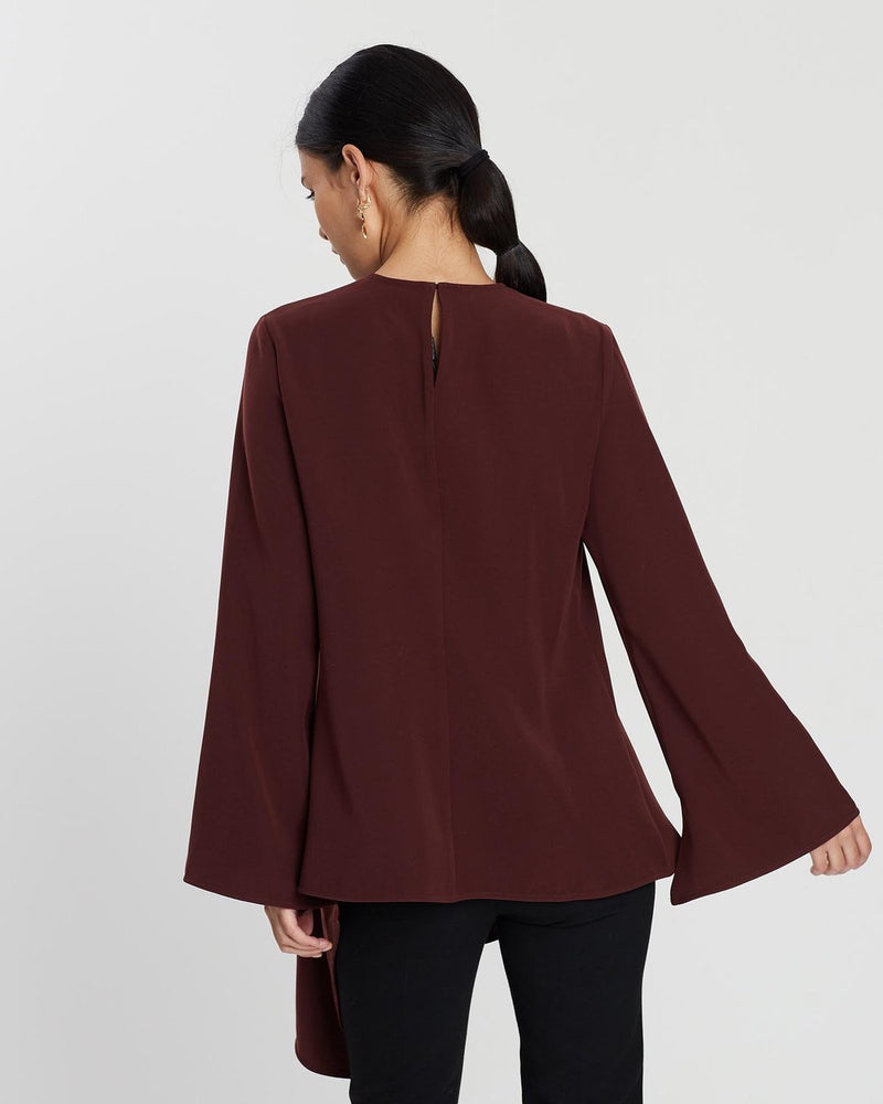 GRACE WILLOW THE LABEL Tasmon Top Merlot  GRACE WILLOW THE LABEL  Klou Boutique