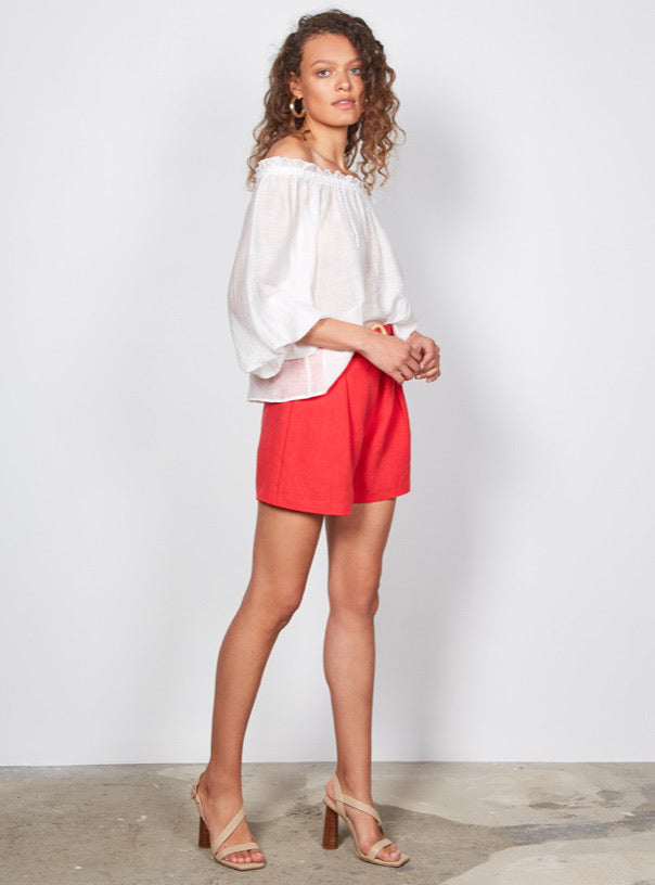Wish the Label Jocie Shorts - red  WISH THE LABEL  Klou Boutique