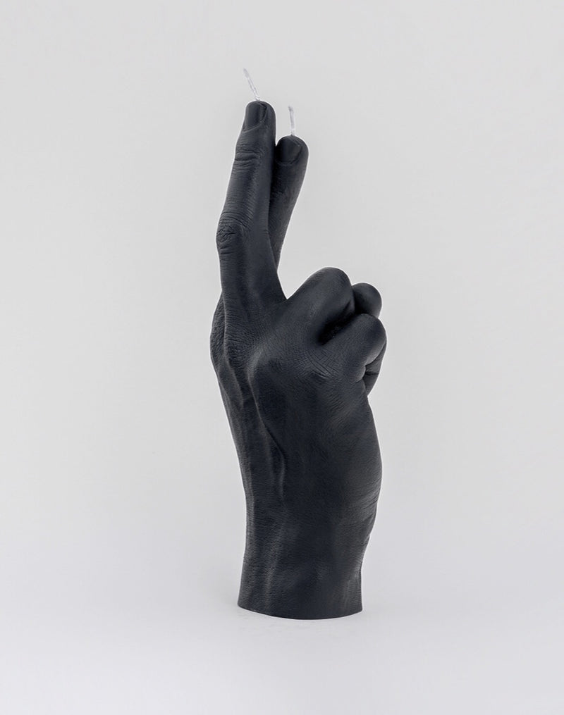 LITTLE GLOBAL CROSSED FINGERS HAND GESTURE CANDLES  LITTLE GLOBAL  Klou Boutique
