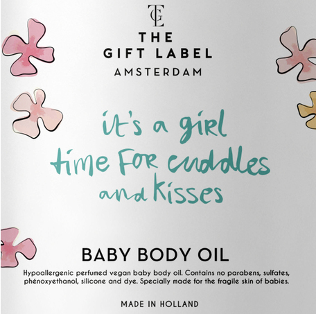 Its a girl time for cuddles and kisses baby body oil  THE GIFT LABEL GIFTWARE Klou Boutique