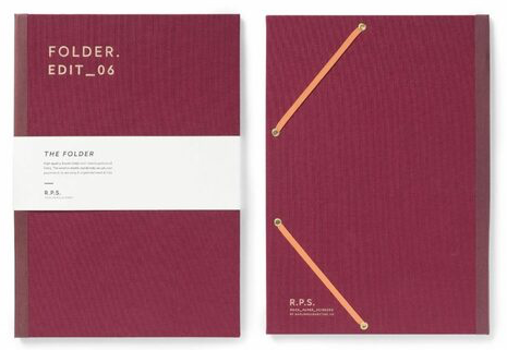 Rock Paper Scissors Burgundy A4 Folder - Darling Clementine  Darling Clementine Stationary Klou Boutique