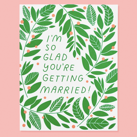 So Glad You're Getting Married - Card