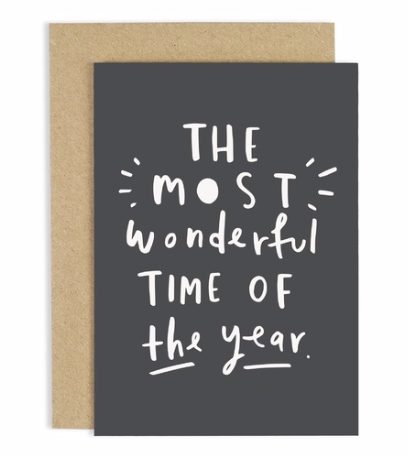 Most Wonderful year Christmas Card  Old English Company card Klou Boutique