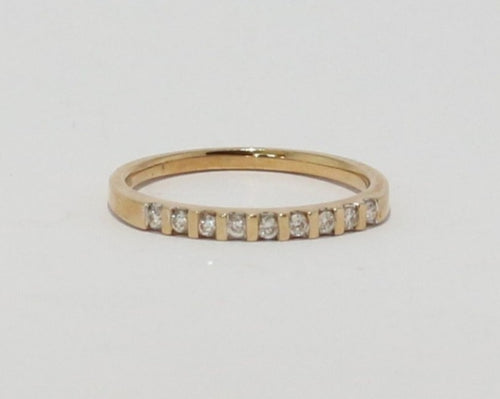 9ct Yellow Gold Round Brilliant cut Diamond Band