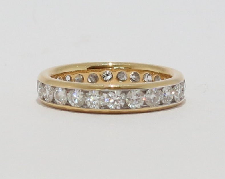 18ct Yellow Gold Diamond Channel set Full-Eternity Band