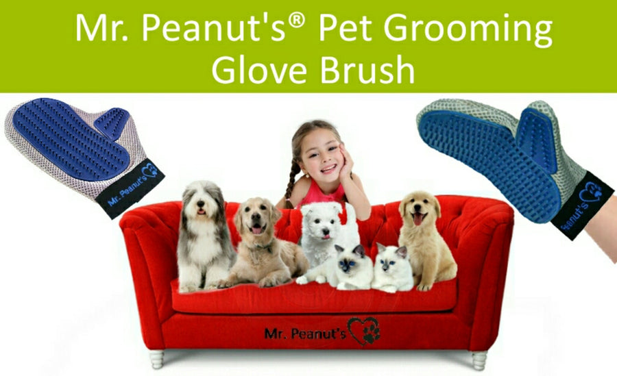 Mr. Peanut's Original Pet Grooming Glove - Mr. Peanut's Airline Approved Pet Carriers