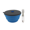 Mr. Peanut's 30oz Collapsible Silicone Camping Bowl with Lid & Foldable Fork